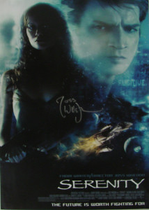 Joss signed Serenity poster